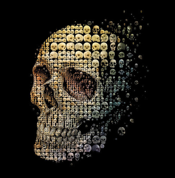 Halloween Skull Art #15 – Mosaic by Charis Tsevis