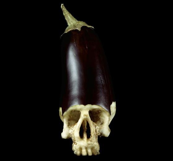 Halloween Skull Art #16 – Eggplant