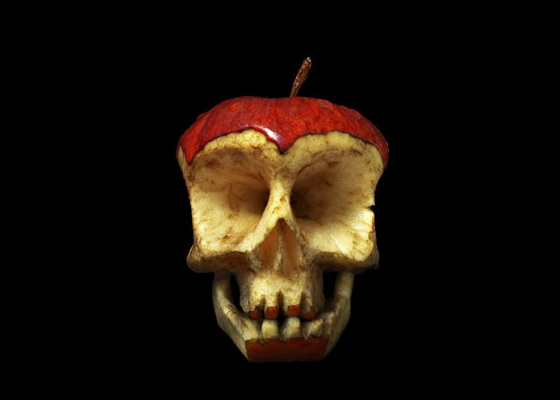 Apple Core – Halloween Skull Art #20