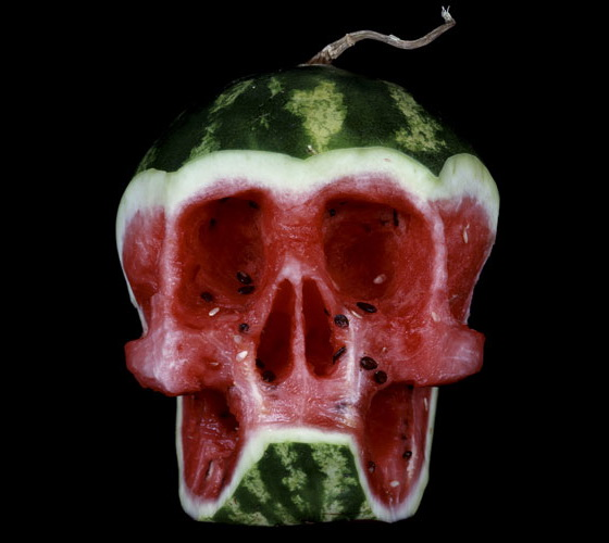 Watermelon – Halloween Skull Art #22