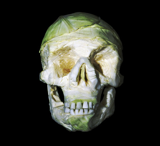 Halloween Skull Art #9 – Green Cabbage