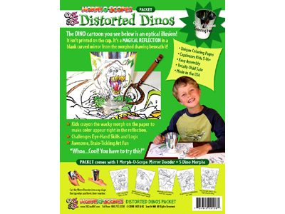 Distorted Dinos Packet package