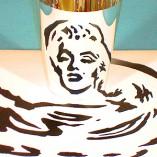 Marilyn Monroe line drawing morphed
