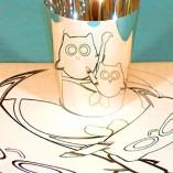 Smart with Art owls mascot